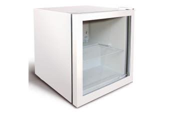Husky 50L Glass Door Bar Fridge in White