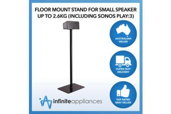 Floor Mount Stand for Speaker Up to 2.6kg Including Sonos Play:1 & Play:3