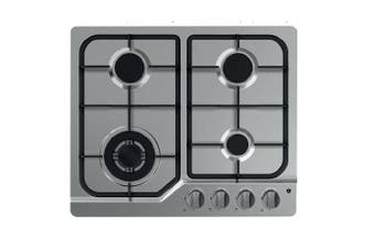 Tisira 60cm 4 Burner Stainless Steel Gas Cooktop With Wok Burner