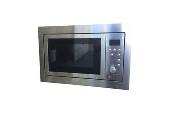 Tisira 60x40cm Stainless Steel Compact Built In Microwave Oven & Grill (TMW228X)