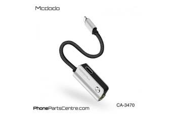 MCDODO  Lightning iPhone To 3.5MM AUDIO JACK CONVERTER ADAPTER CHARGE [Silver]