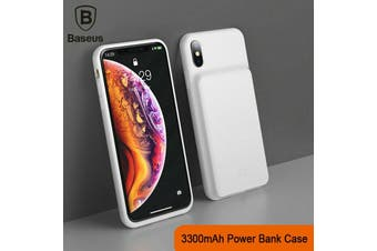 BASEUS  3300mAh External Battery Charge Case Power Cover for iPhone X [White]