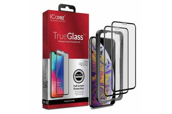 iCAREZ [2-pack] Full Coverage Tempered Glass Screen Protector For  iPhone XR
