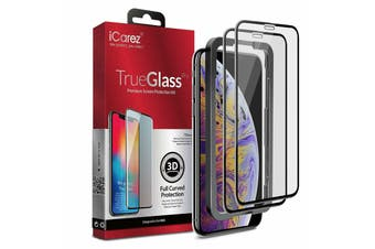 iCAREZ [2-pack] 3D Tempered Glass Screen Protector For iPhone XR