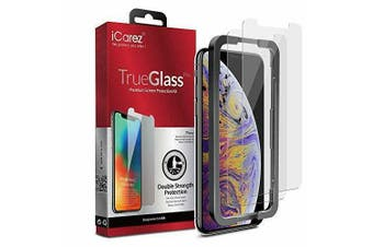 iCAREZ [2-Pack] Tempered Glass Double Defense Screen Protector For Iphone XS Max