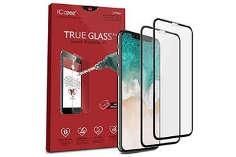 iCAREZ [2-pack] 9H Tempered Glass Screen Protection Kit For Iphone XS