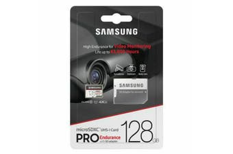 Samsung Micro SD 128GB Pro Endurance /w Adapter, UHS-1 SDR104, Class 10
