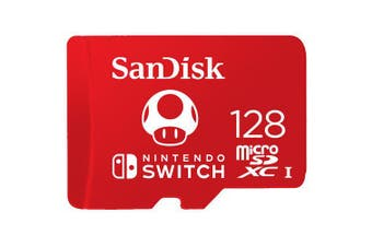 SanDisk 128GB microSDXC 100Mb/s UHS-I Memory Card for Nintendo Switch