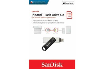 SanDisk Ixpand Flash Drive GO 128GB USB 3.0 Memory Stick