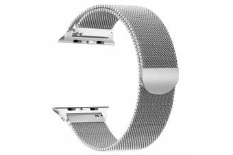 Apple Watch Series 1/2/3/4 Milanese Magnetic Stainless Steel Wrist Band [42mm,Silver]