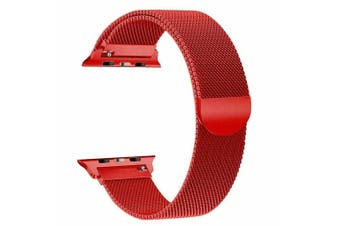 Apple Watch Series 1/2/3/4 Milanese Magnetic Stainless Steel Wrist Band [38mm, red ]