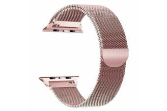 Apple Watch Series 1/2/3/4 Milanese Magnetic Stainless Steel Wrist Band [42mm, Pink]
