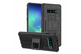Heavy Duty Shockproof Rugged Case Cover for Samsung Galaxy A30 [Black]