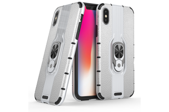 Heavy Duty Shockproof Case Cover For iPhone XS [Silver]