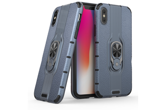 Heavy Duty Shockproof Case Cover For iPhone X [Blue]