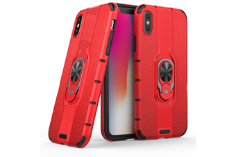 Heavy Duty Shockproof Case Cover For iPhone X [Red]