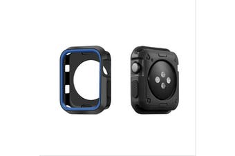 Apple Watch Series 5 4 3 2 1 TPU Bumper Protective Case [ 42mm, Black/Blue]
