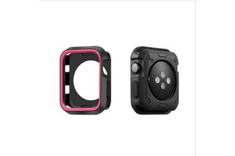 Apple Watch Series 5 4 3 2 1 TPU Bumper Protective Case [ 42mm, Black/Pink]