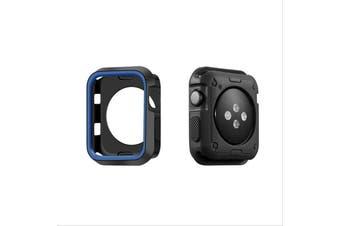 Apple Watch Series 5 4 3 2 1 TPU Bumper Protective Case [ 44mm, Black/Blue]