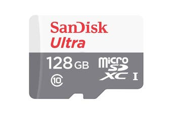 SanDisk MicroSD Ultra 128GB 80MB/s SDXC Class 10 Memory Card