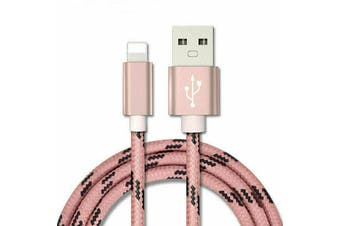 Fast Charging iPhone Lightning Cable Charger for iPhone & iPad Series [1m, Pink]
