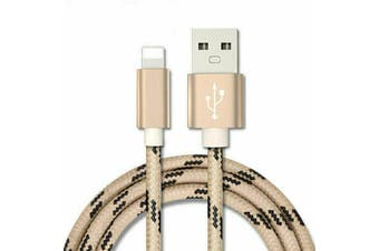 Fast Charging iPhone Lightning Cable Charger for iPhone & iPad Series [1m, Gold]