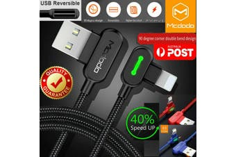 (2 Packs) MCDODO Button Series Lightning Cable Heavy Duty Charging Syn Charger For iPhone  [1.2m, Black]