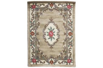 Hand Carved Wool Rug - Avalon - Beige - 120x170cm