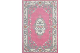 Hand Carved Wool Rug - Avalon - Pink - 150x240cm