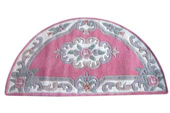 Hand Carved Wool Rug - Avalon - Pink