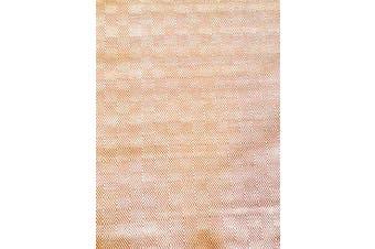 Trendy Cotton Rug - Diamond - Orange/White