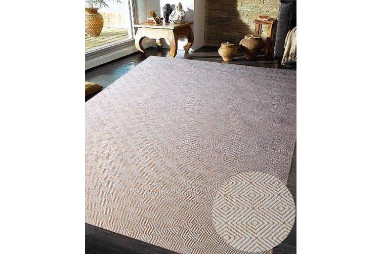 Trendy Cotton Rug - Diamond - Orange/White - 150x225cm