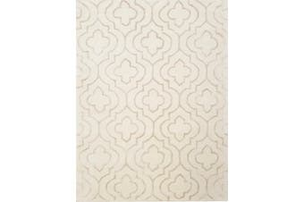 Luxurious Handmade Royal Wool & Visocse Rug - Decotex 1061 - Ivory
