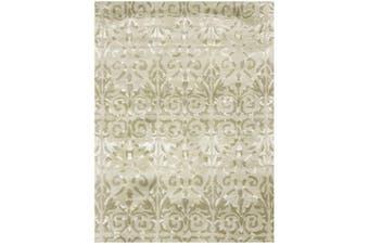 Designer Handmade Wool & Viscose Rug - Botanical 1071 - Beige