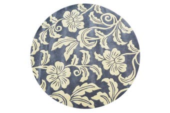 Designer Handmade Round Wool Rug - 5066 - Grey - 150x150cm