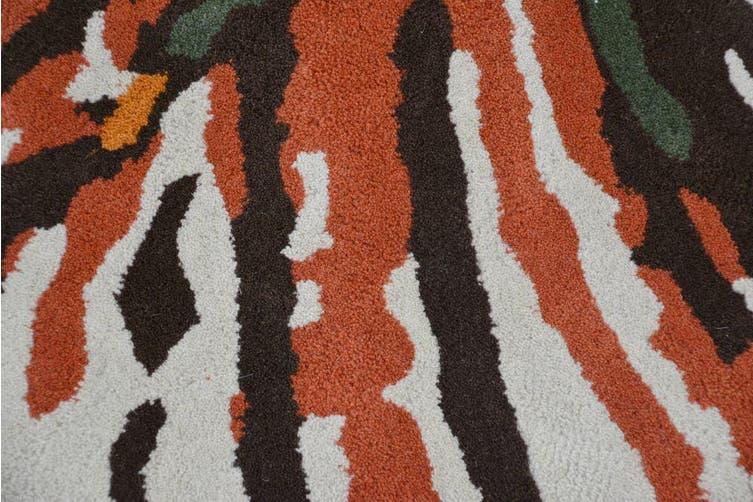 Designer Handmade Round Wool Rug - 5067 - Multi - 150x150cm