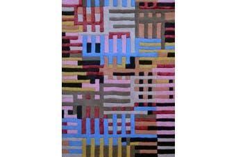 Designer Handmade Wool Rug - Texture3018 - Multi - 160x230cm