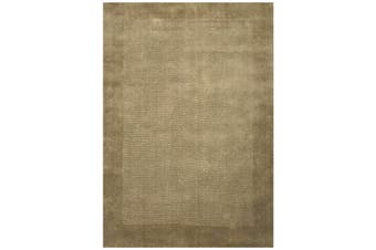 Contemporary Handmade Modern Wool Rug - Elite 1041 - Taupe