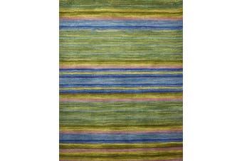 Designer Handmade Wool Rug - Infinite 1101 - Green - 160x230cm