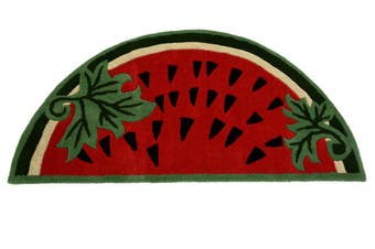 Handmade Kids Wool Rug - Watermelon - Red - 67x127cm
