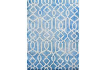 Handmade Tie-Dye Wool Rug - Maryland 1170 - Aqua - 110x160cm