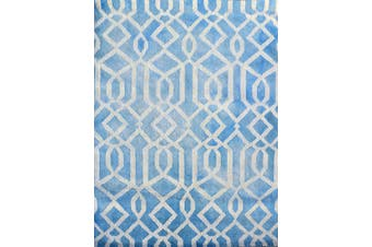 Handmade Tie-Dye Wool Rug - Maryland 1170 - Aqua - 160x230cm