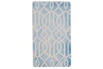 Handmade Tie-Dye Wool Rug - Maryland 1170 - Aqua
