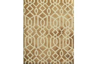 Handmade Tie-Dye Wool Rug - Maryland 1170 - Brown