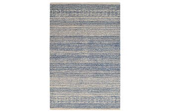Designer Handmade Wool Rug - Newcastle 6201 - Denim - 110x160cm