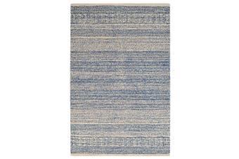 Designer Handmade Wool Rug - Newcastle 6201 - Denim