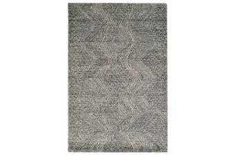 Designer Handmade Wool Rug - Newcastle 6202 - Charcoal - 190x280cm