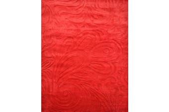 Modern Handmade Wool Rug - Paisley - Red - 160x230cm
