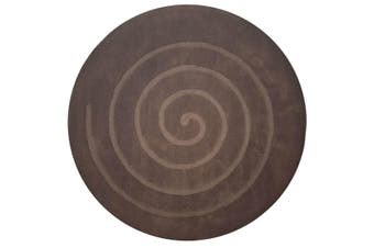 Handmade Round Wool Rug - Swirl