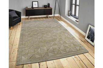 Handmade Contemporary Wool Rug - Triangle - Evening Haze - 110x160cm